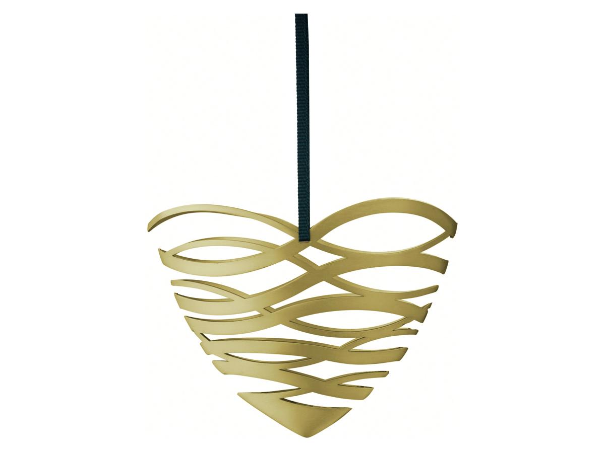 Stelton Tangle julornament hjärta liten – mässing