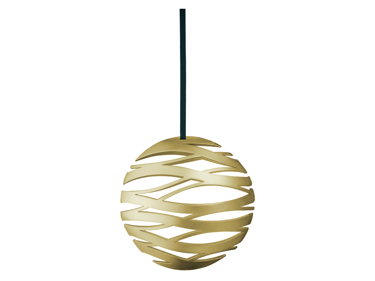 Stelton Tangle julornament boll liten – mässing