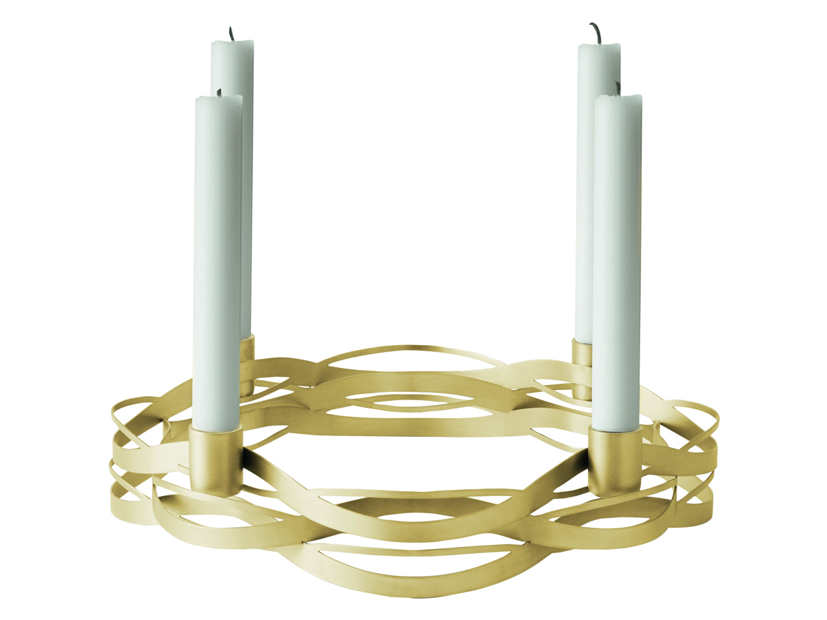 Stelton Tangle adventsljusstake – mässing