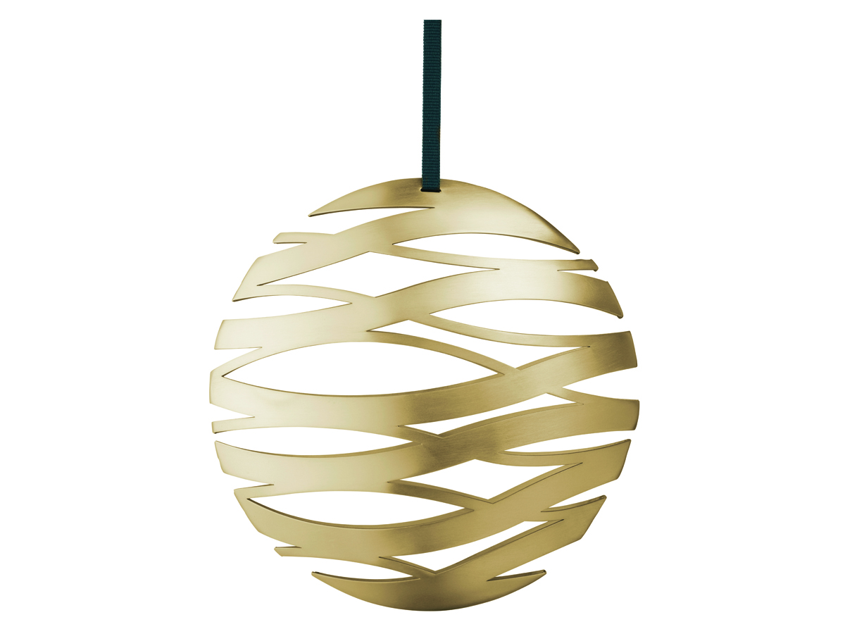 Stelton Tangle julornament boll stor – mässing