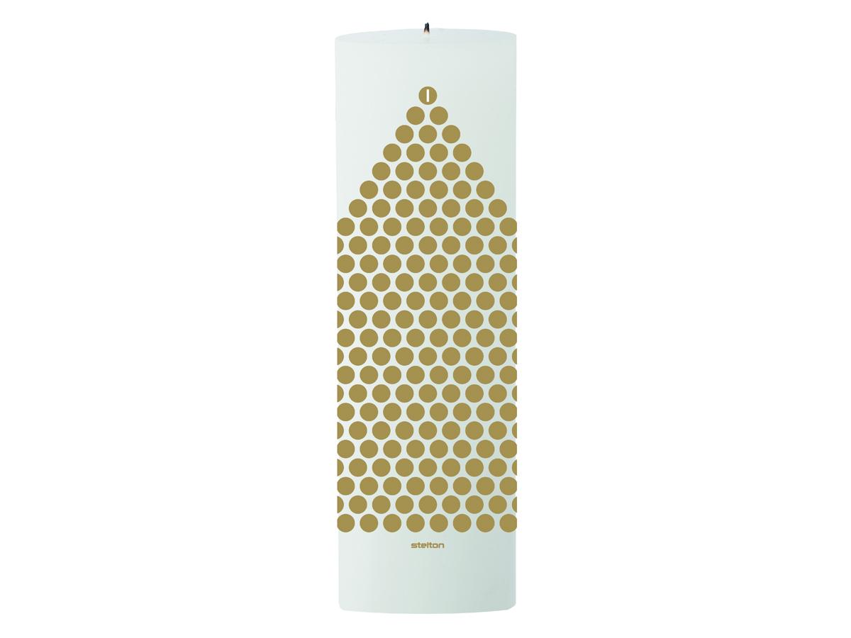 Stelton Stelton kalenderljus vit/guld