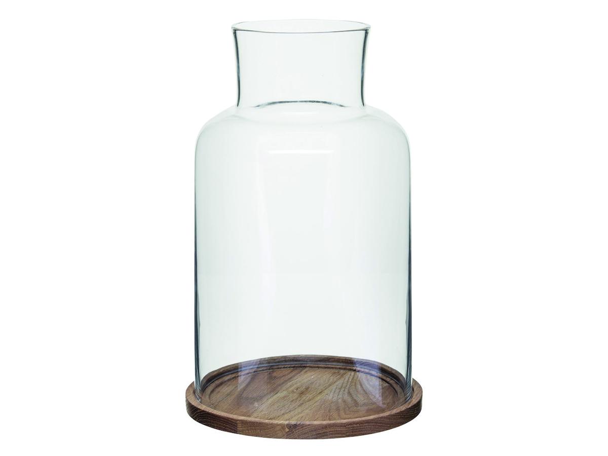 Sagaform Oval Oak Ljuslykta Stor