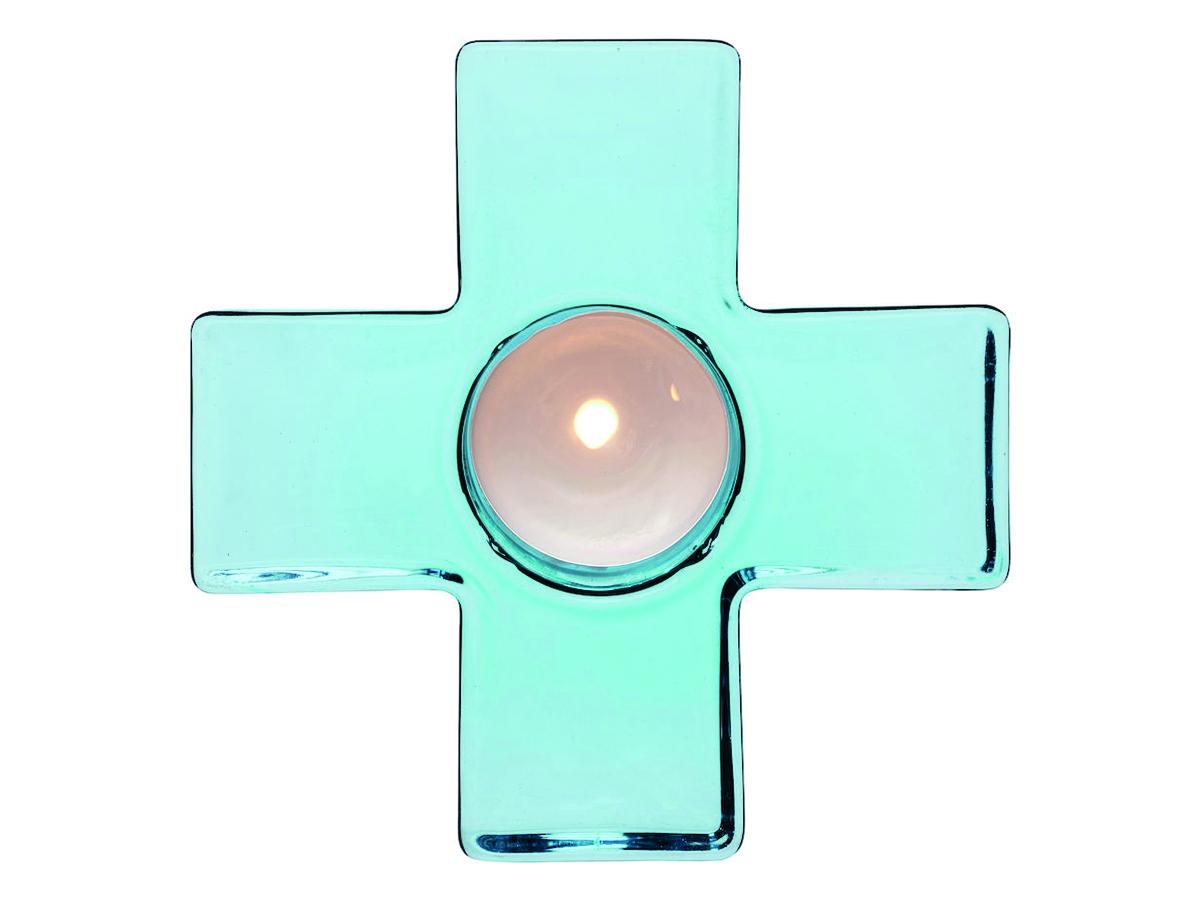 Sagaform Cross Ljuslykta Blå