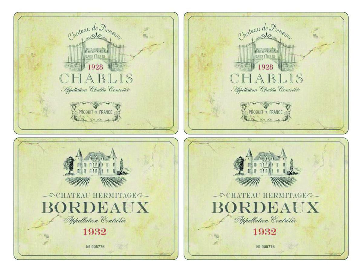 Pimpernel Vin de France Bordsunderlägg 4-pack