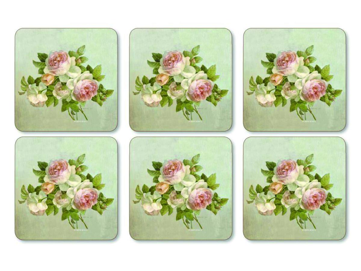 Pimpernel Antique Rose Glasunderlägg 6-pack