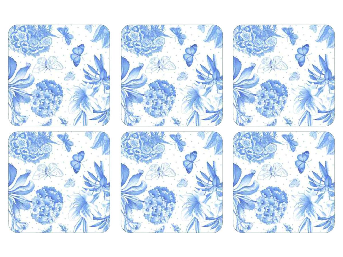 Portmeirion Botanic Blue Glasunderlägg 6-pack