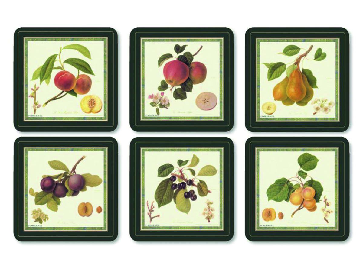 Pimpernel Hooker Fruits Glasunderlägg 6-pack