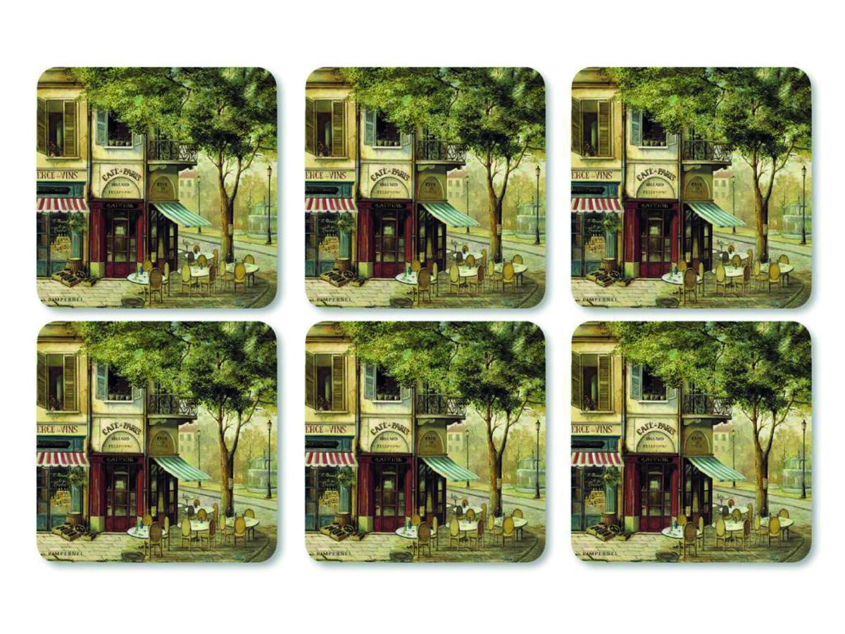 Pimpernel Parisian Scenes Glasunderlägg 6-pack