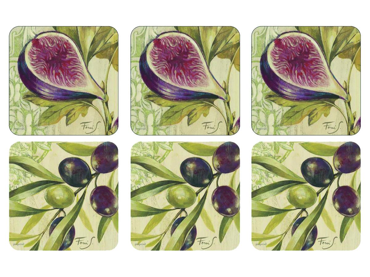 Pimpernel Olives & Figs Glasunderlägg 6-pack