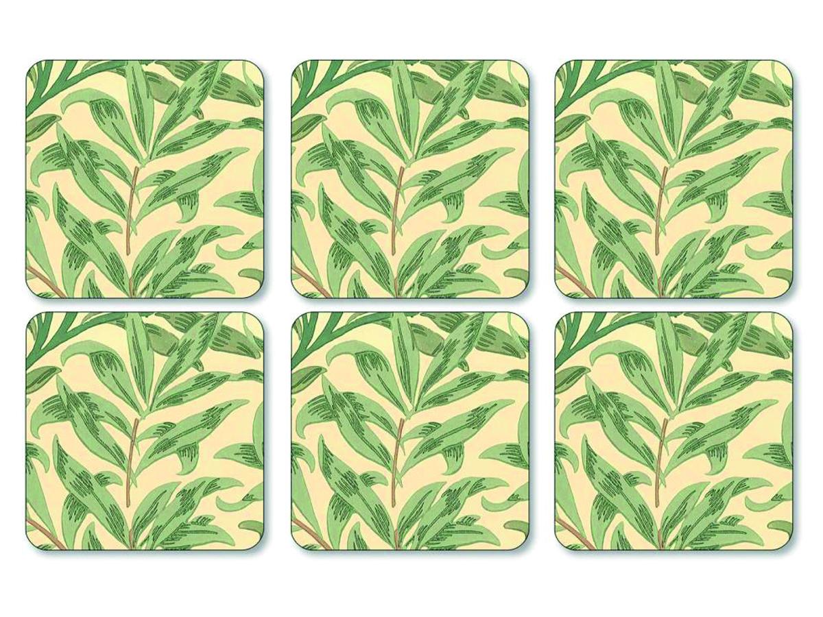 Pimpernel Willow Bough Grön Glasunderlägg 6-pack
