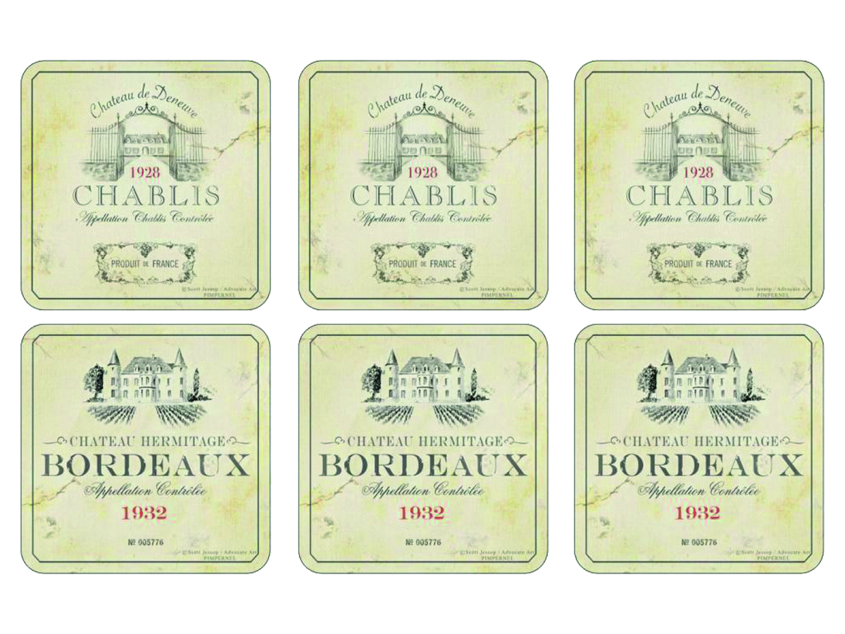 Pimpernel Vin de France Glasunderlägg 6-pack