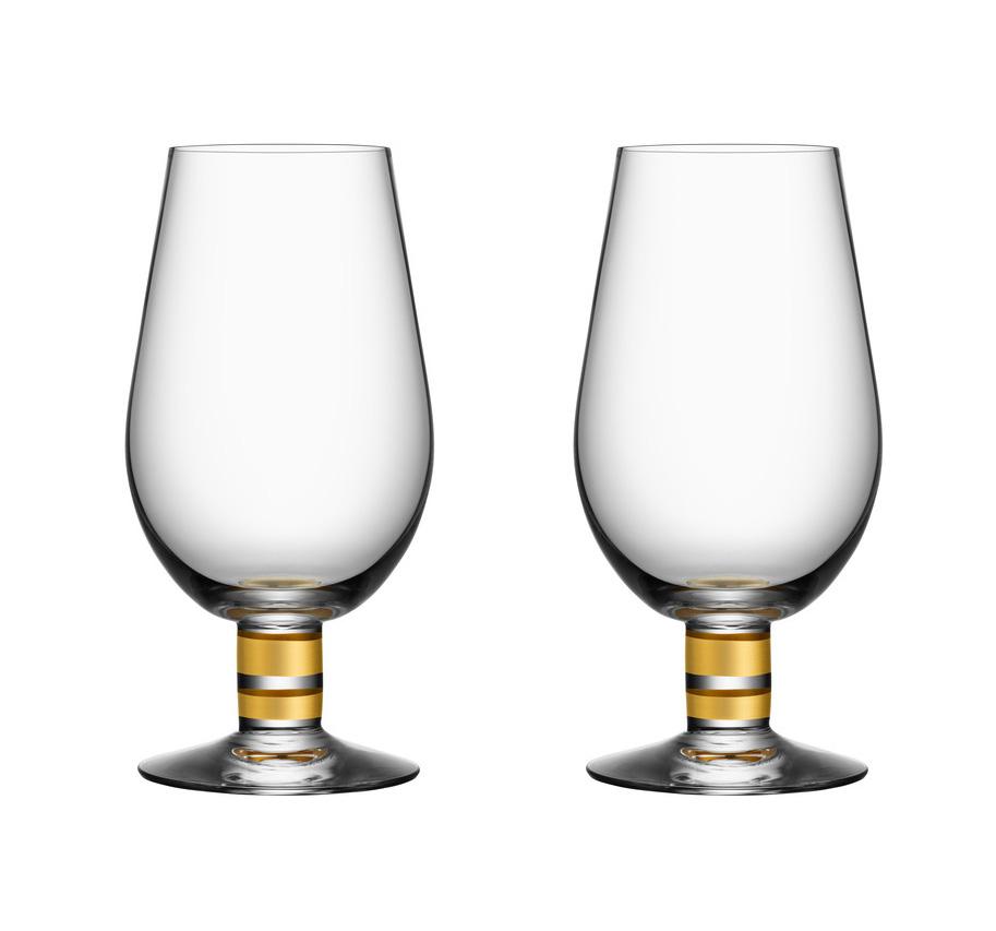 Orrefors Per Morberg Ölglas 63 cl 2 st