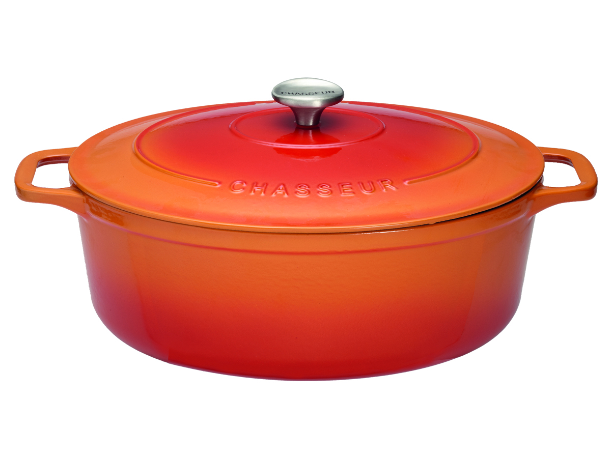 Chasseur Gjutjärnsgryta Oval 56 liter 31 cmFlame Orange