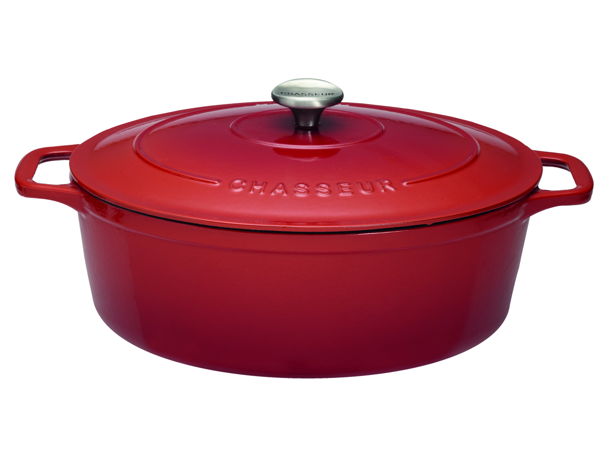 Chasseur Gjutjärnsgryta Oval 56 liter 31 cm Rubin
