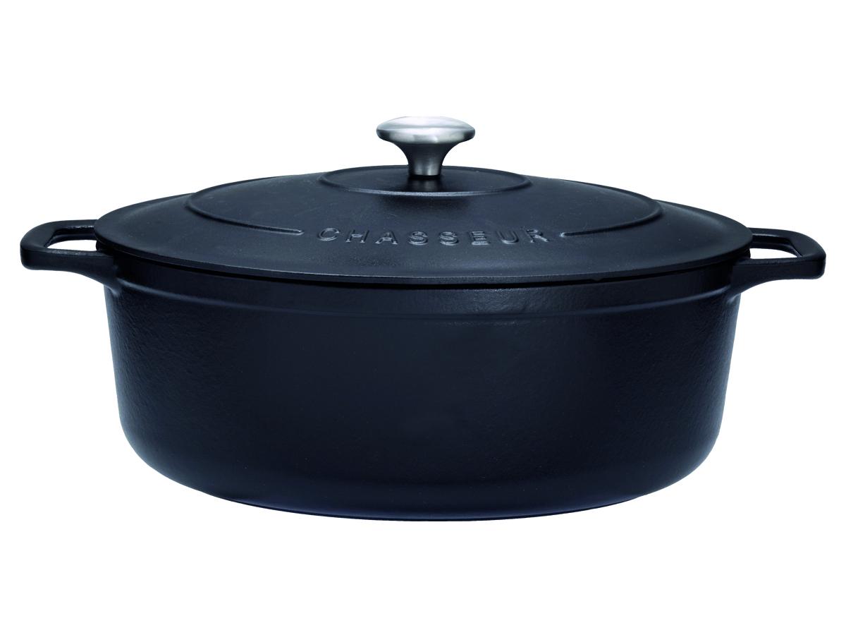 Chasseur Gjutjärnsgryta Oval 56 liter 31 cm Svart