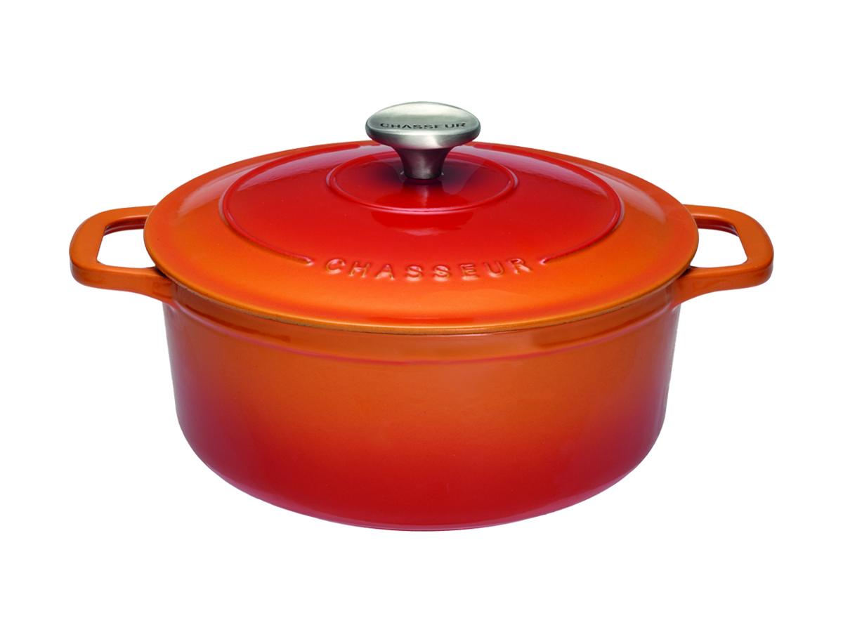 Chasseur Gjutjärnsgryta Rund 23 liter 20 cm Flame Orange