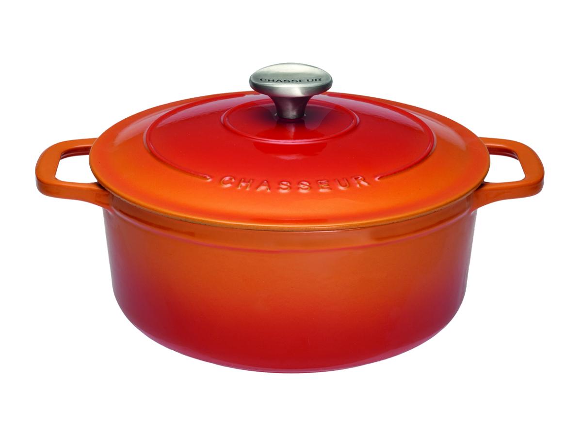 Chasseur Gjutjärnsgryta Rund 4 liter 24 cm Flame Orange