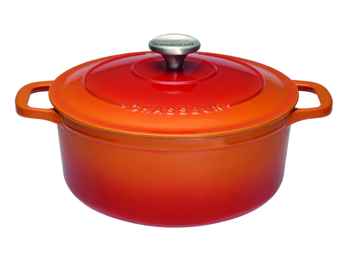 Chasseur Gjutjärnsgryta Rund 52 liter 26 cm Flame Orange