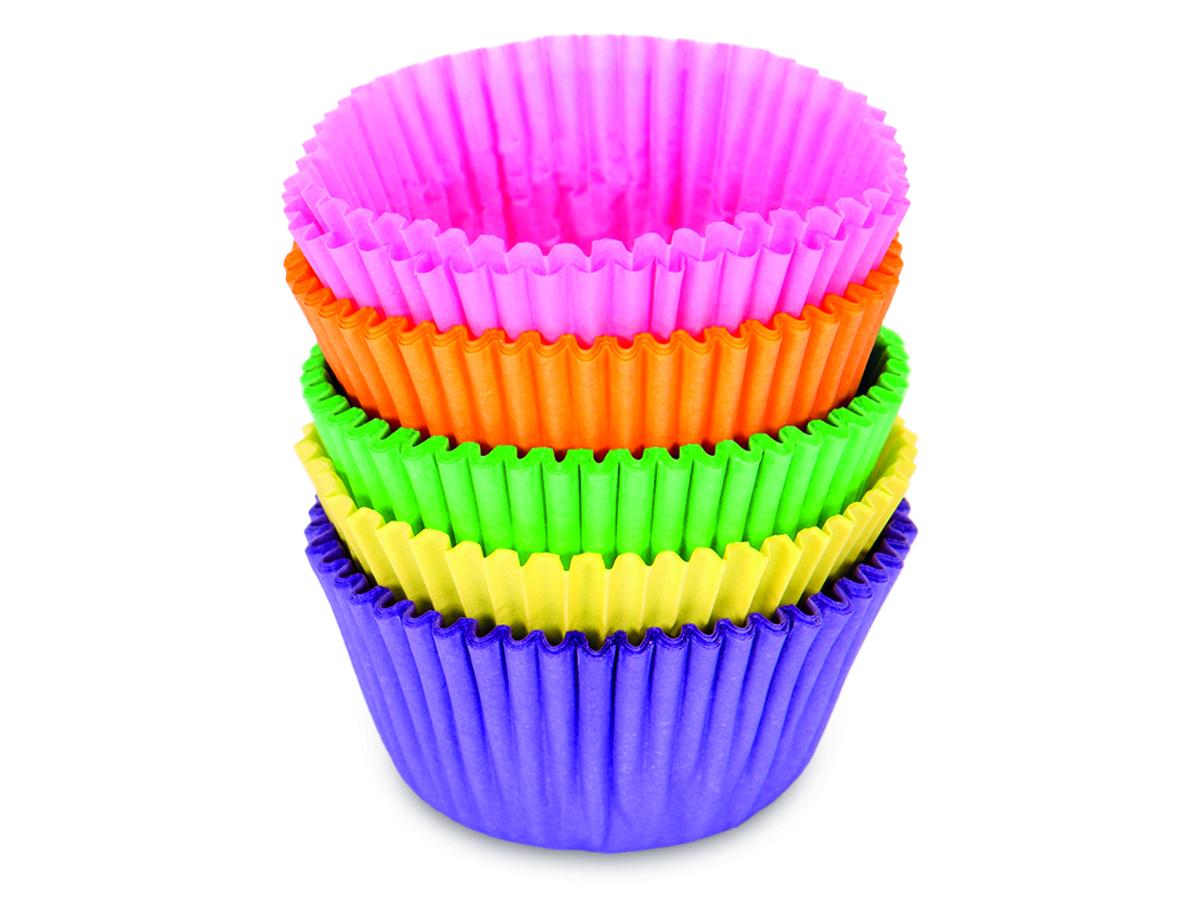 Pappersformar Mini Bullar/muffins Färggladmix 200