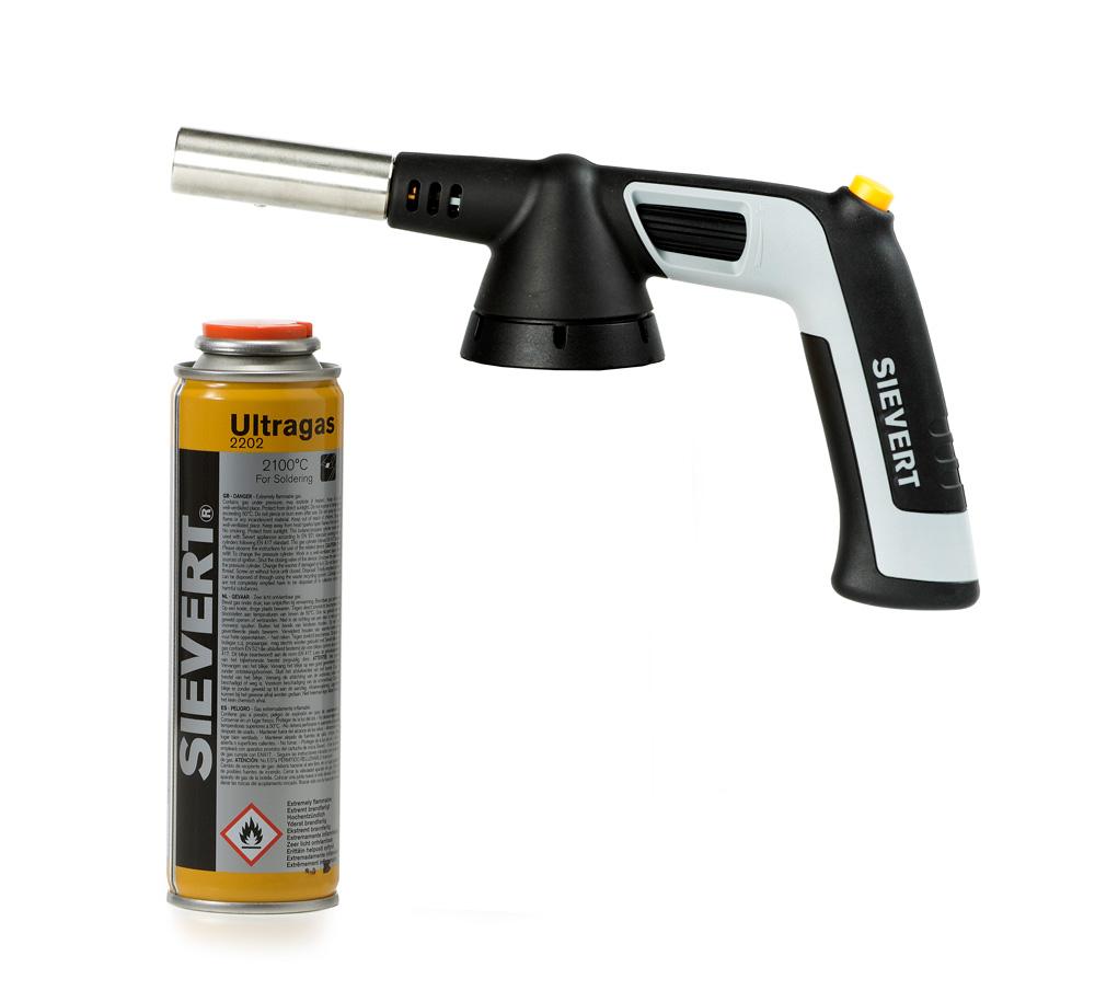 Sievert Handyjet Gasbrännare + Ultragas Gasflaska 110 ml