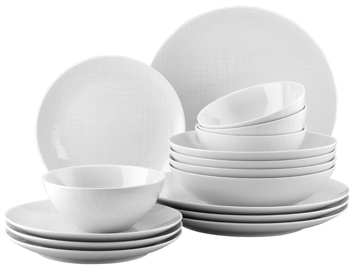 Rosenthal Mesh Hvit 16 deler Middagsservice med Frokostskåler