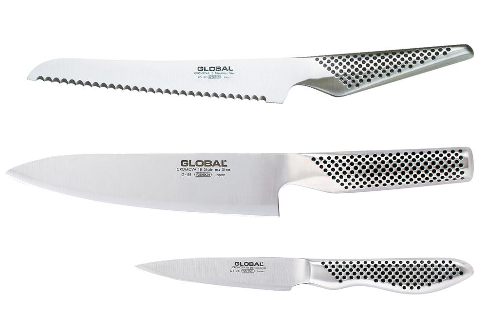 Global G-553861 Knivsett 3 Kniver