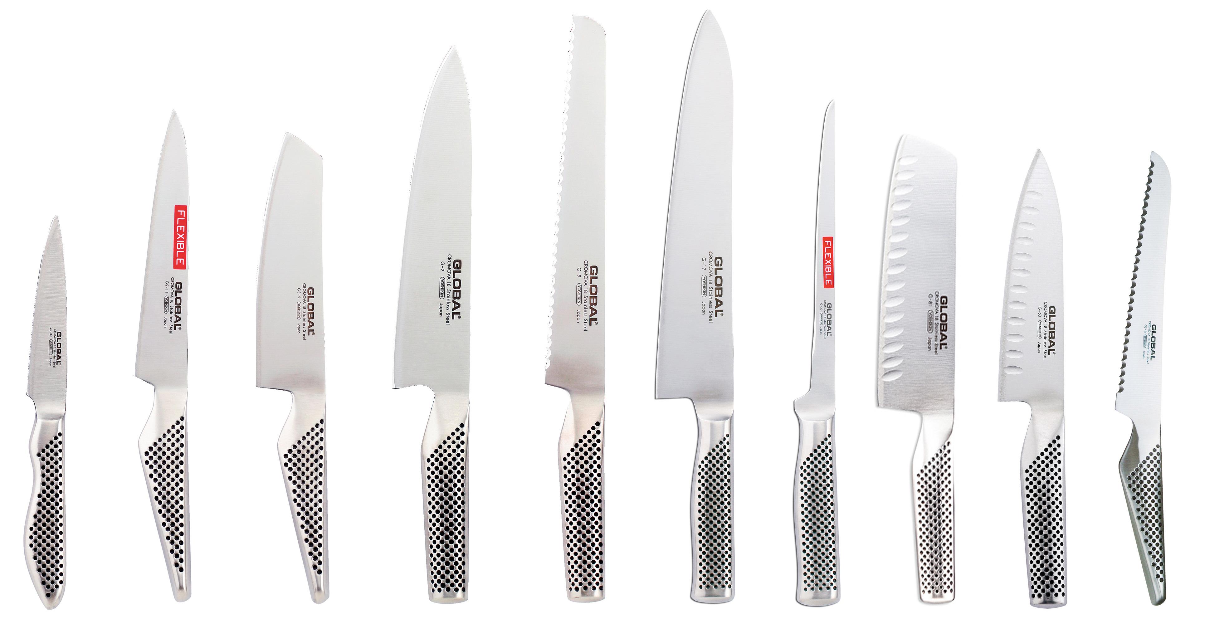 Global Knivsett med 10 Kniver