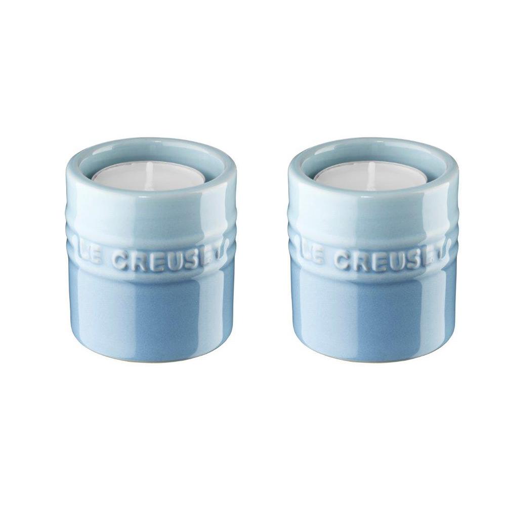 Le Creuset Ljuslyktor, 2-pack, 6 cm Coastal Blue