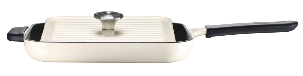 KitchenAid Grill och Panini Press 25x25 cm Creme