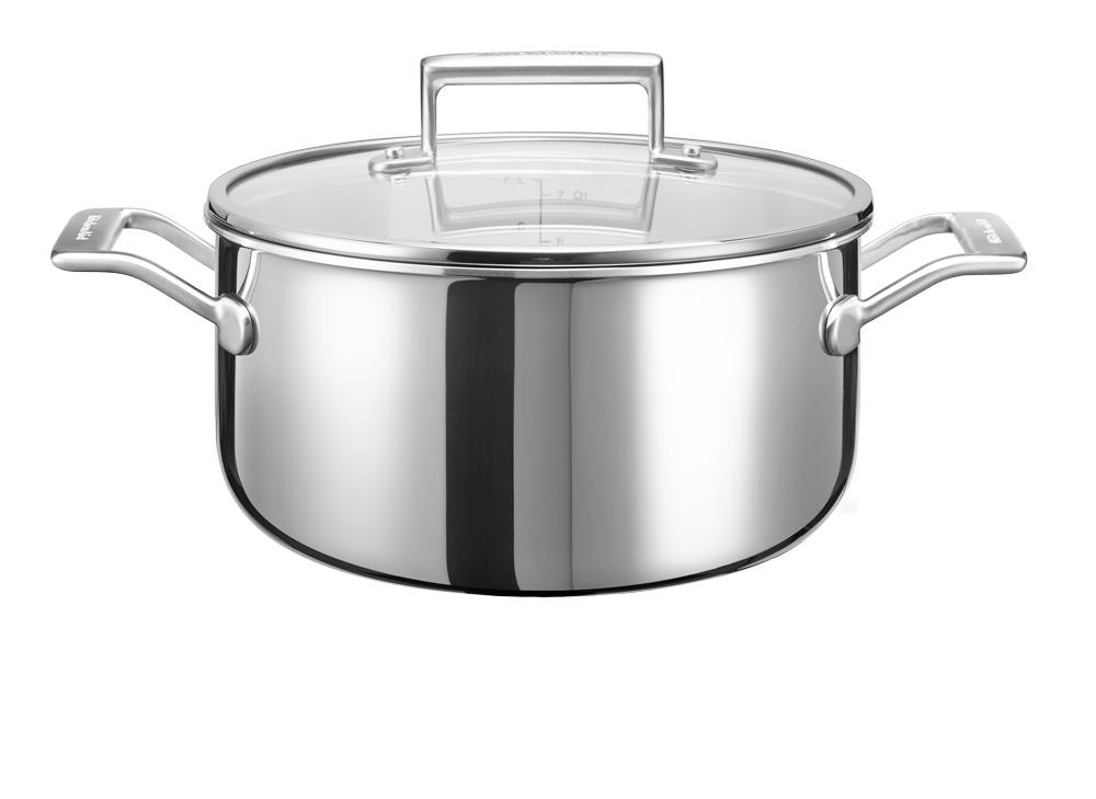 KitchenAid Lav Gryte med Lokk 24 cm