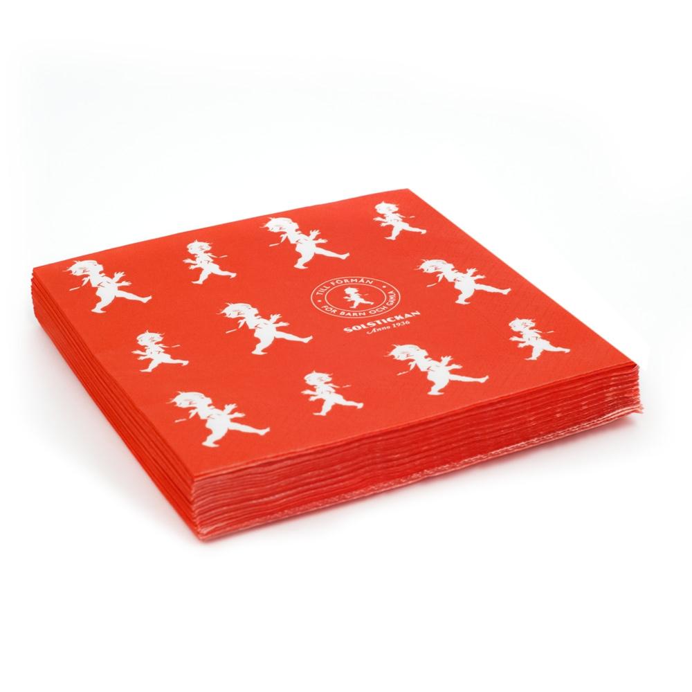 Solstickan Servett Röd 33x33cm 20-pack