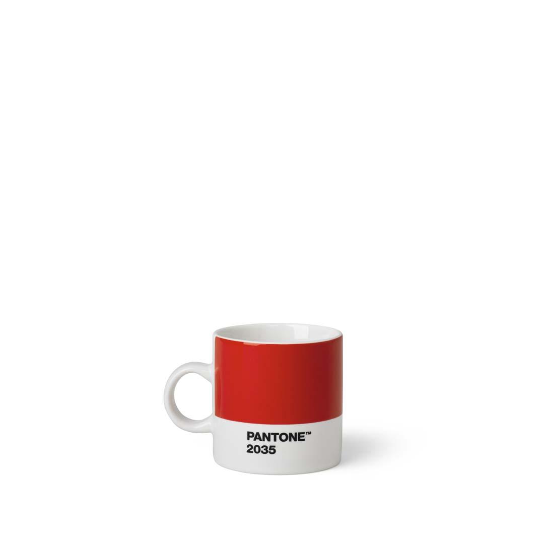 Pantone Living Espressokopp, 12 cl Röd
