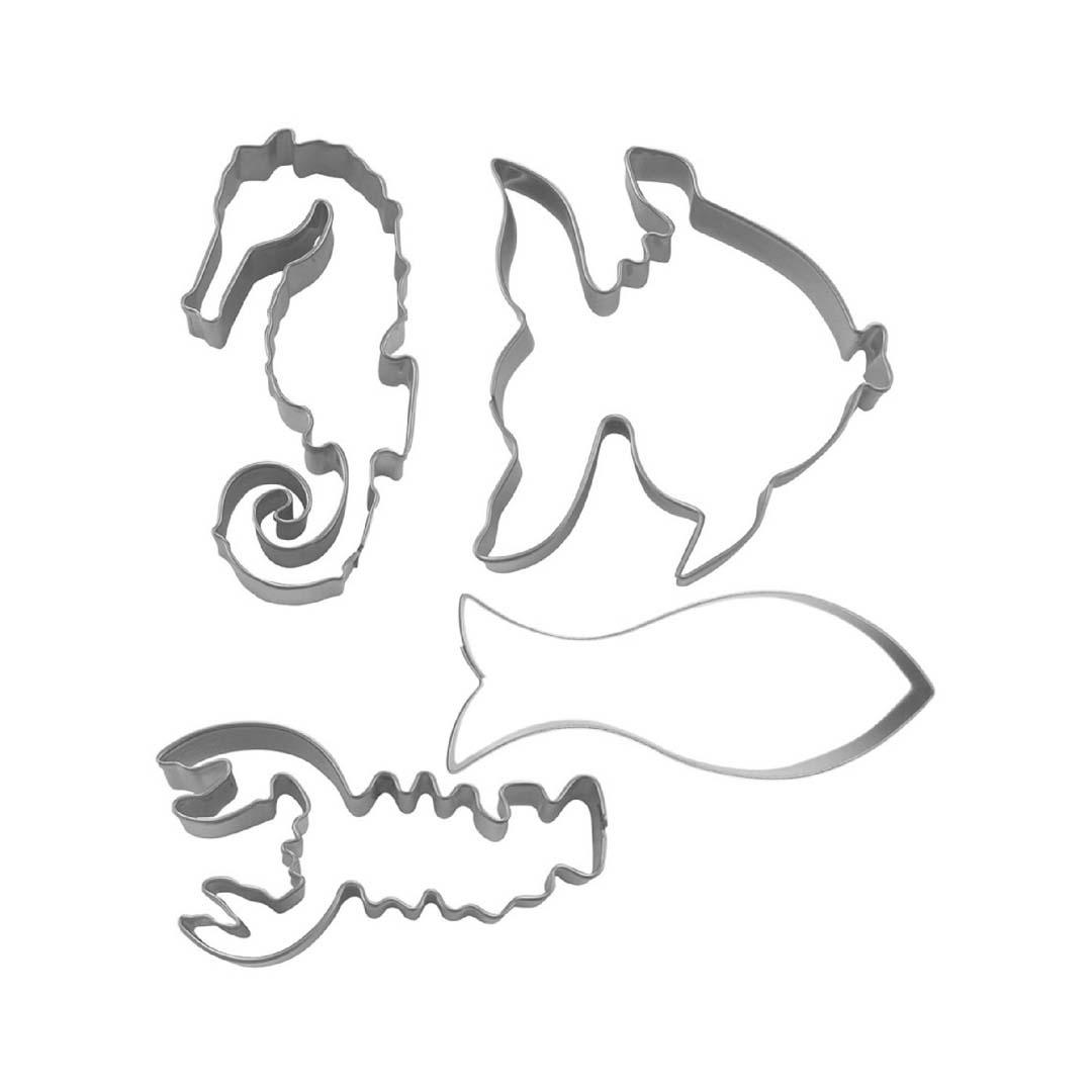 Kakformar Vattendjur 4 delar