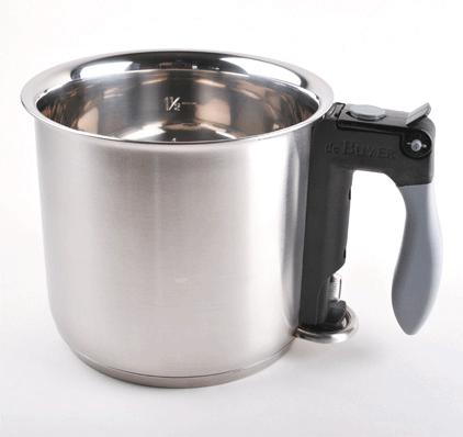 de Buyer Bain Marie Vattenbadskokare 16 cm 1,5 liter Rostfritt