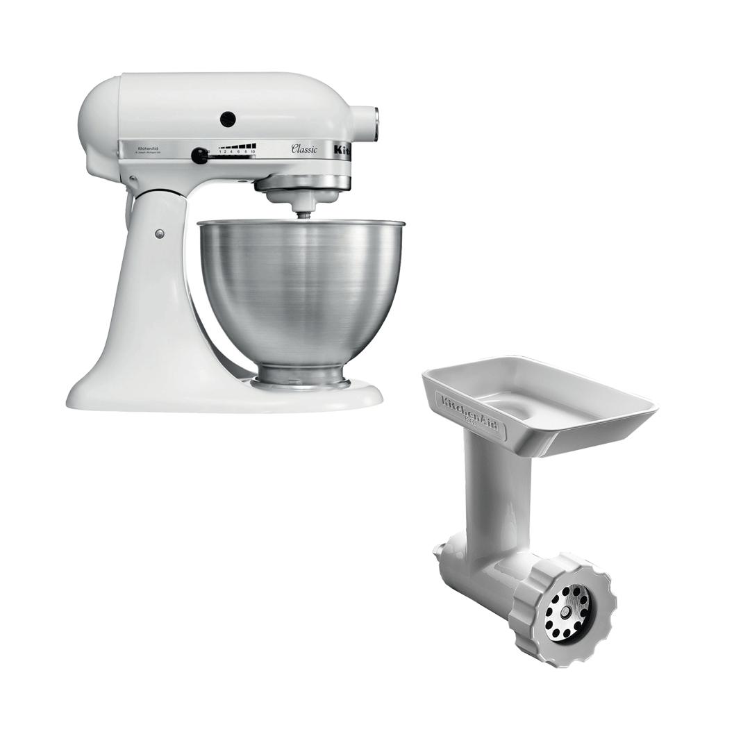 KitchenAid Classic Kjøkkenmaskin Hvit + Kjøttkvern