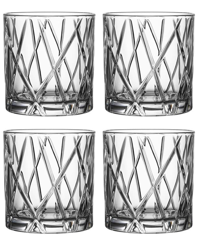 Orrefors City Whiskyglas DOF 33 cl 4-pack