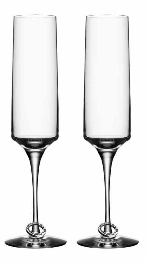 Orrefors Amor Vincit Omnia Champagneglas 2-pack 18 cl