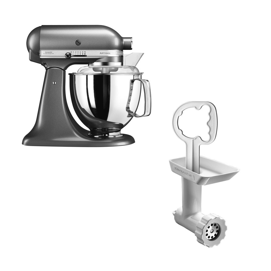 KitchenAid Artisan 175 Grafit Metallic + Kjøttkvern FGA