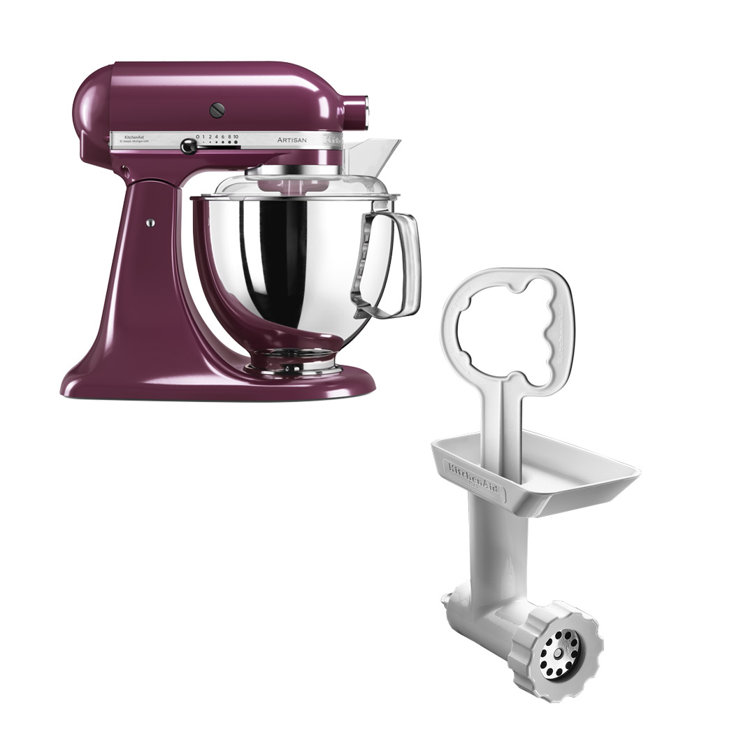 KitchenAid Artisan 175 Boysenberry + Kjøttkvern FGA