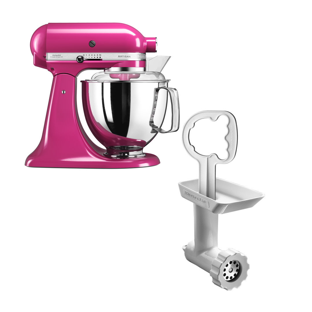 KitchenAid Artisan 175 Cranberry + Kjøttkvern FGA