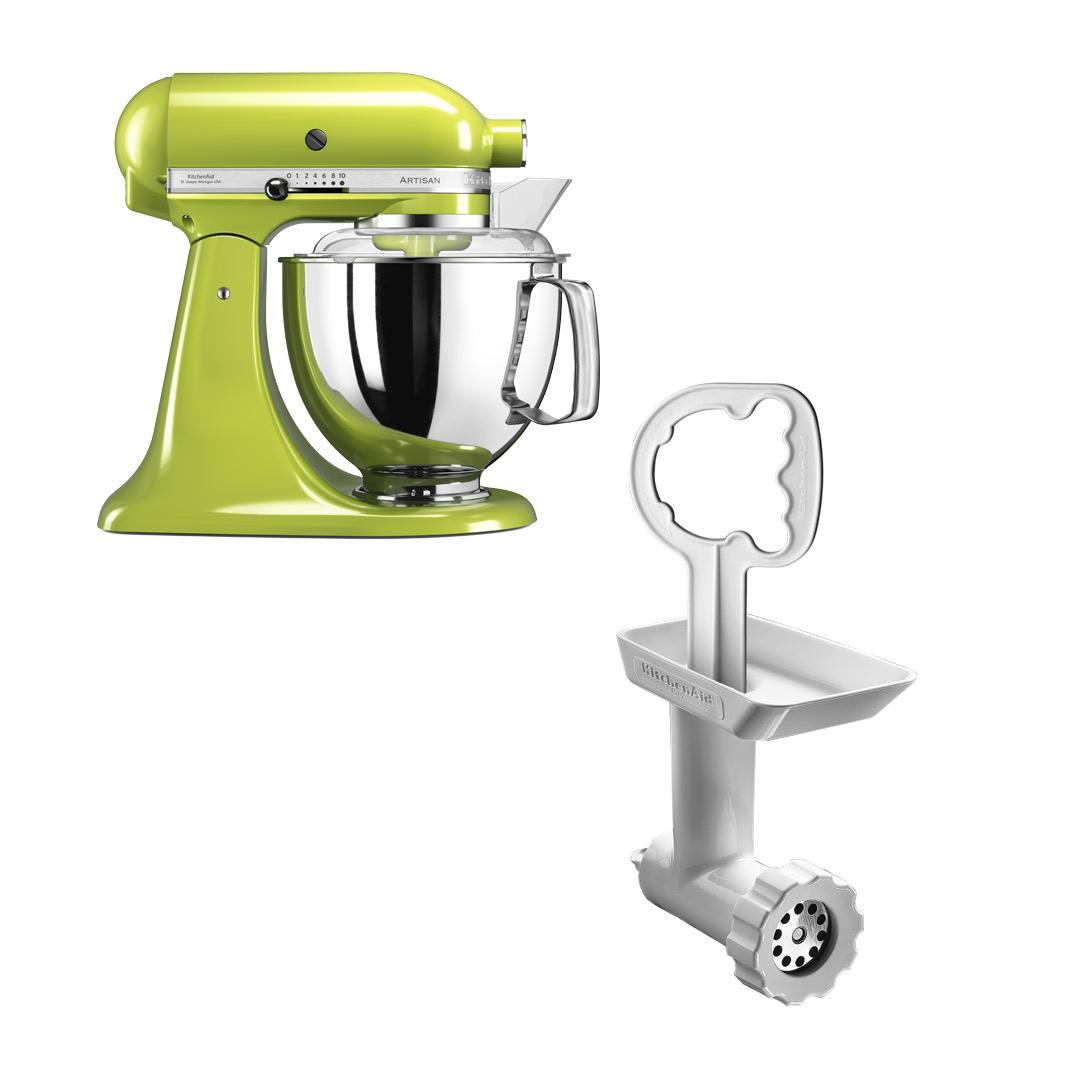 KitchenAid Artisan 175 Eplegrønn + Kjøttkvern FGA