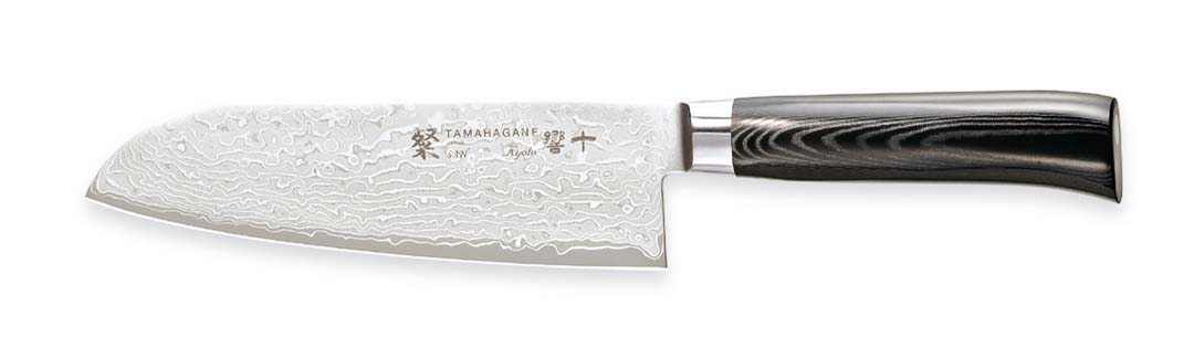 Tamahagane San Kyoto Santokukniv 17,5 cm
