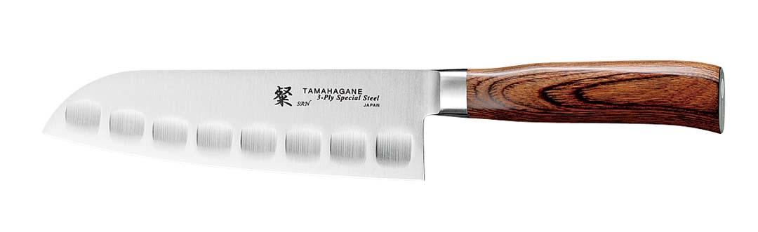 Tamahagane SAN Santokukniv 17,5 cm Olivenslipt
