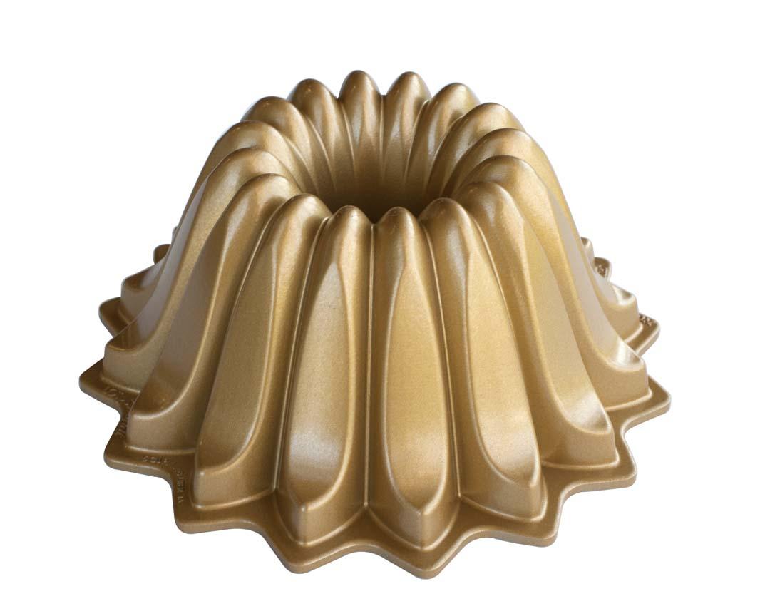 Nordic Ware Lotus Bundt Pan, Gold