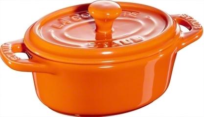 Ceramic by Staub Oval Minigryta Orange 11 cm 0,2 l