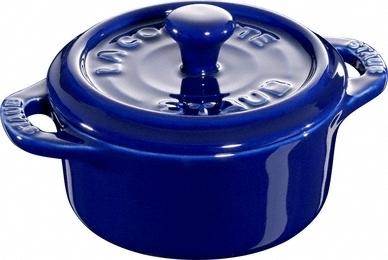 Ceramic by Staub Rund Minigryta Blå 10 cm 0,2 l