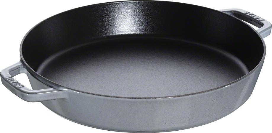 Staub Pans Series Sautépanna med Två Handtag Grå 34 cm