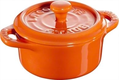Ceramic by Staub Rund Minigryta Orange 10 cm 0,2 l