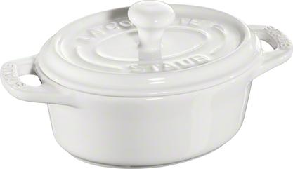 Ceramic by Staub Oval Minigryta Vit 11 cm 0,2 l