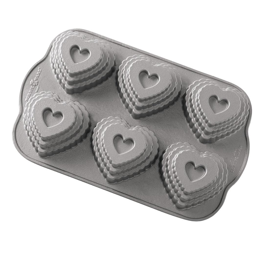 Nordic Ware Tiered Heart Cakelet